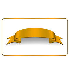 ribbon gold banner satin blank collection vector image vector image