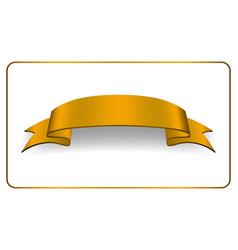 ribbon gold banner satin blank collection vector image