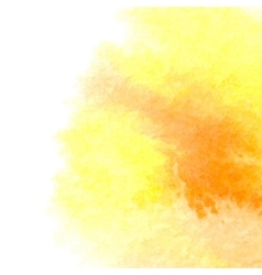 Watercolor orange background vector image vector image