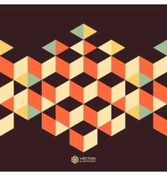 Abstract geometrical 3d background vector image