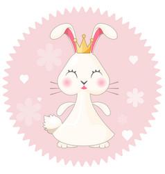 bunny girl cute princess on vector image