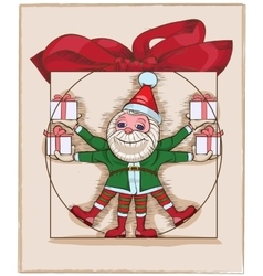 many elfs with presents vector image vector image