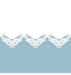 paper lace border vector image vector image