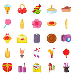 revels icons set cartoon style vector image