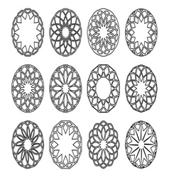 Round geometric ornaments vector image vector image