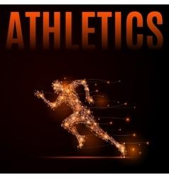 Running man athletics vector image vector image