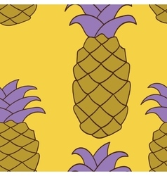 Seamless pineapple pattern vector image