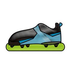 soccer shoes design vector image