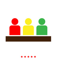 board meeting - business concept icon different vector image