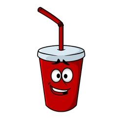 Cartoon takeaway soda vector image