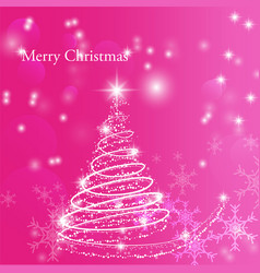 christmas and happy new year background for design vector image