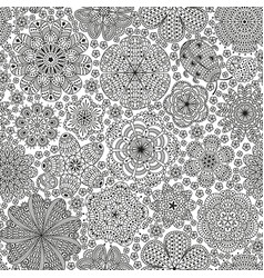 seamless pattern or template with stylized flower vector image vector image