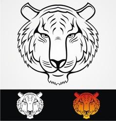 Tiger Head Mascot vector image vector image