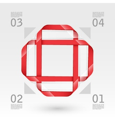 Abstract glass web template vector image