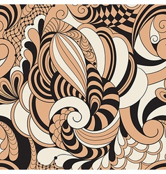 Abstract Seamless Doodle Pattern vector image vector image