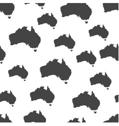 australia map seamless pattern business concept vector image