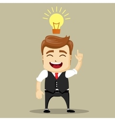 business man smile and have a new idea vector image vector image