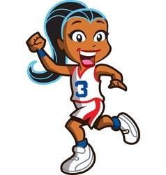 Girl Basketball Player vector image vector image