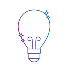 line bulb power electric energy to illuminate vector image vector image