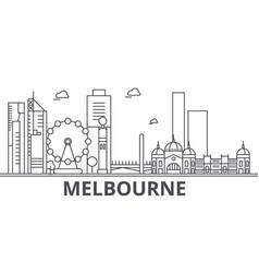 melbourne architecture line skyline vector image