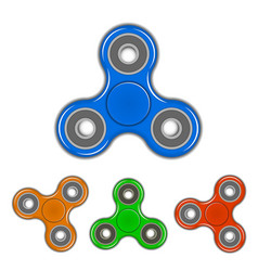 set of 3d spinner vector image