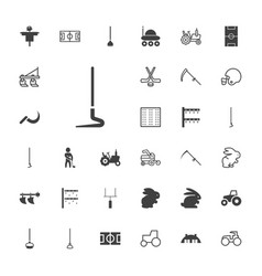 33 field icons vector