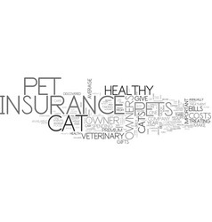 A cat fight for insurance text word cloud concept vector