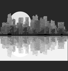 Abstract big city at night vector
