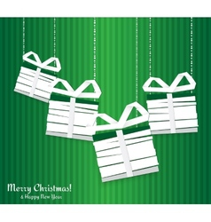 Abstract Christmas card with gifts vector image