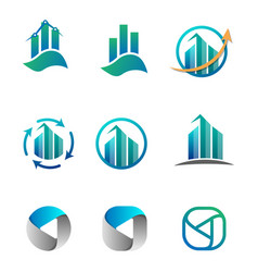Accounting finance business logo set vector