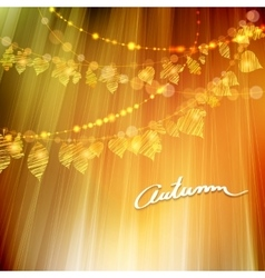 Autumn background with different leaves vector image