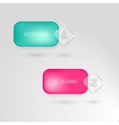 Banner with a glass surface for your vector