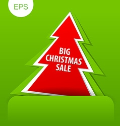 big christmas sale tree vector image