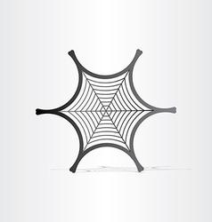 Black spider web symbol vector