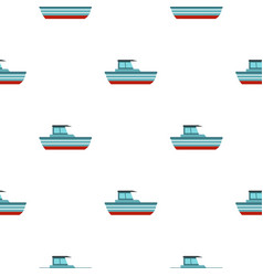 Blue motorboat pattern seamless vector