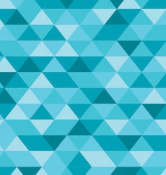 Blue Triangle Pattern Background vector image