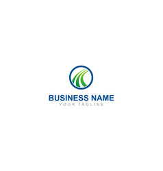 business finance abstract logo vector image