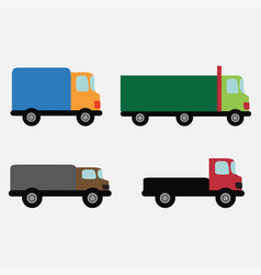 Car set delivery vector