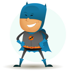 cartoon-comic-super-hero-six vector image