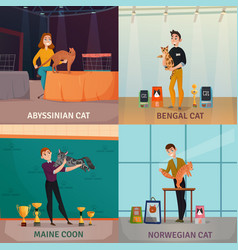 Cat show concept vector