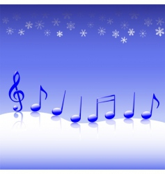 christmas carol music on snow vector image