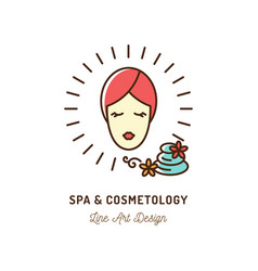 cosmetic spa therapy icon cosmetology and beauty vector image