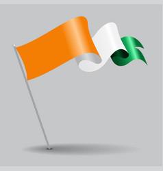 cote d ivoire pin wavy flag vector image