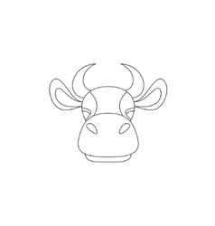 Cow on a white background vector image