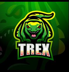 dinosaur t-rex mascot logo design vector image
