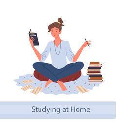 distance study self education knowledge concept vector image