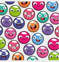 emoji emoticon seamless pattern background vector image