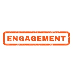 Engagement Rubber Stamp vector image