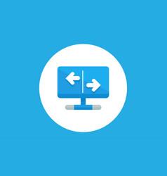 exchange icon sign symbol vector image