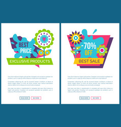 exclusive products best price spring labels flower vector image